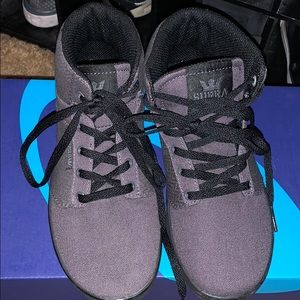 Dark grey lace up sneakers